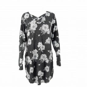 Blusa lanilla flores No Boundaries
